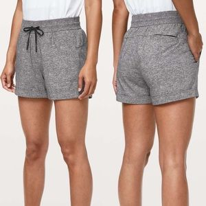 Lululemon Heather Grey Spring Break Away II Shorts